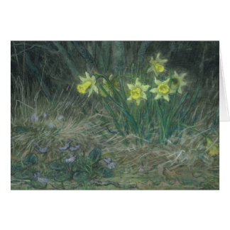 Narcissi and Violets, c.1867 Card