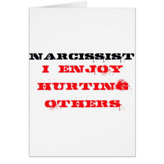 Narcissist Definition Card