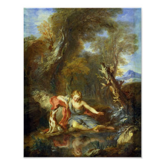 Narcissus, 1728 poster