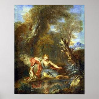Narcissus, 1728 print