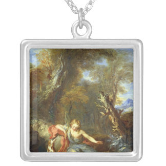 Narcissus, 1728 silver plated necklace