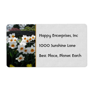 Narcissus and Wooden Fence Label
