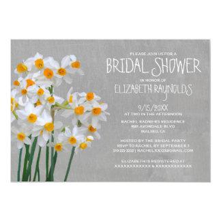 Narcissus Bridal Shower Invitations