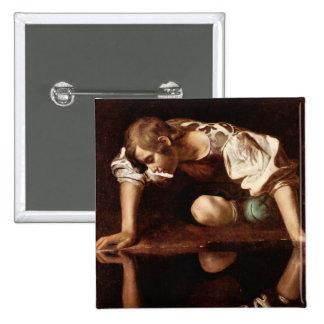 Narcissus by Caravaggio Button