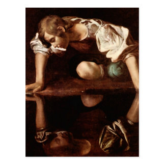 Narcissus by Caravaggio Postcards