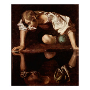 Narcissus by Caravaggio Poster