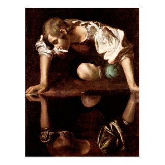 Narcissus, Caravaggio Postcard