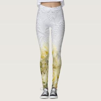 Narcissus flowers against textured paper leggings