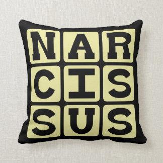 Narcissus Greek Myth Figure Throw Pillow