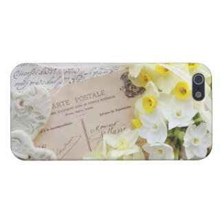 narcissus, hearts, old postcard iPhone 5 savvy iPhone SE/5/5s Cover