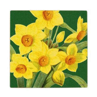 Narcissus (N Tazetta) Wooden Coaster