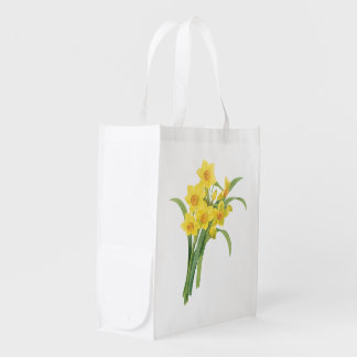 narcissus(Narcissus tazetta) by Redouté Grocery Bag