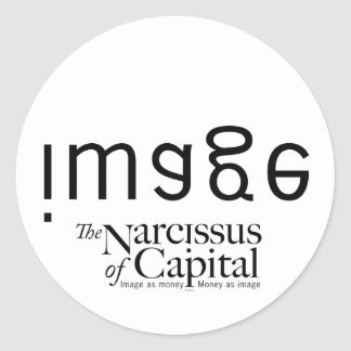 NARCISSUS of CAPITAL - Customized Classic Round Sticker