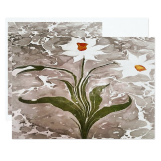 Narcissus On Marble Card