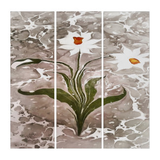 Narcissus On Marble Triptych