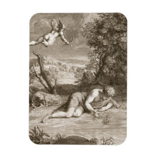 Narcissus Transformed into a Flower, 1730 (engravi Magnet