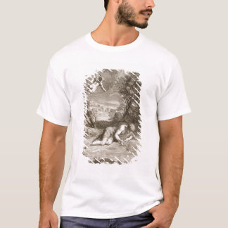 Narcissus Transformed into a Flower, 1730 (engravi T-Shirt