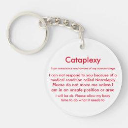 Narcolepsy & Cataplexy Medical Alert Keychain