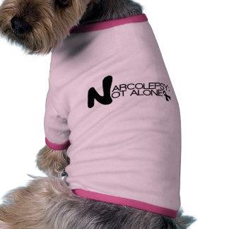 NARCOLEPSY: NO camiseta del perrito de ALONE™ Camiseta Con Mangas Para Perro