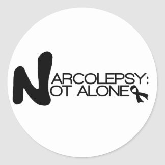 NARCOLEPSY: NO pegatinas de la obra clásica de ALO Etiquetas Redondas