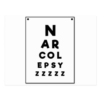 Narcolepsy ZZZZ Postcard