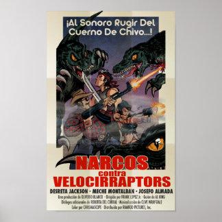 Narcos contra Velocirraptors Póster