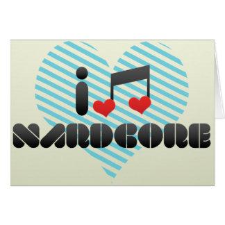 Nardcore fan greeting card