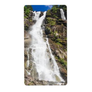 Nardis waterfalls,Italy Custom Shipping Label