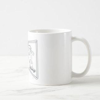 Nardvark que pide ayuda del estudio en una taza