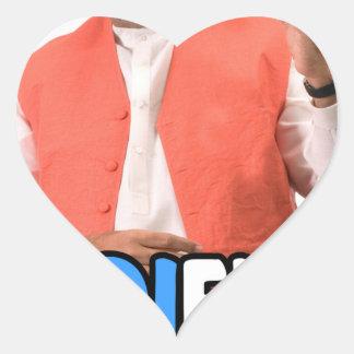 Narendra Modi Collection Heart Sticker