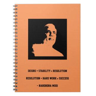 Narendra MODI Spiral Notebooks