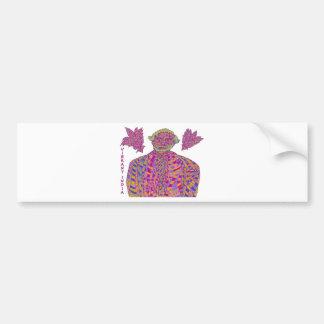 Narendra Modi Psychedelic Bumper Sticker