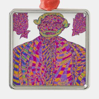 Narendra Modi Psychedelic Metal Ornament