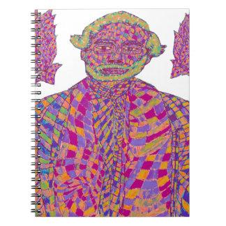 Narendra Modi Psychedelic Spiral Notebook