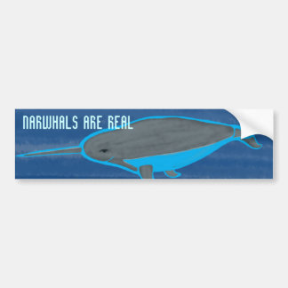 Narhwhals are Real Bumper Sticker