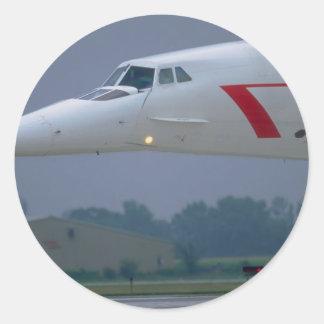 Nariz de la aguja de British Airways Concorde Pegatina Redonda