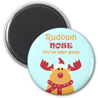 Nariz de Rudolph… Imán Para Frigorífico