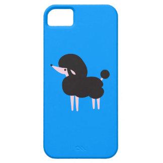 Nariz francesa negra bonita del caniche en el aire iPhone 5 carcasas