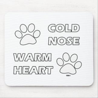 Nariz fría, corazón caliente tapete de ratones