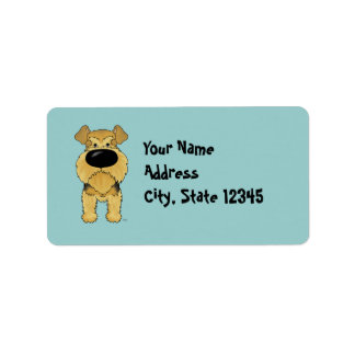 Nariz grande Airedale Terrier Etiquetas De Dirección