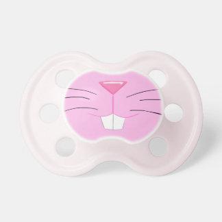 Nariz linda del conejito - piel y nariz rosadas chupetes para bebés