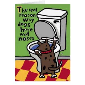 nariz mojada del perrito tarjeta de felicitación