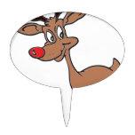 Nariz roja Rudolph Decoración Para Tarta