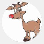 Nariz roja Rudolph Pegatina