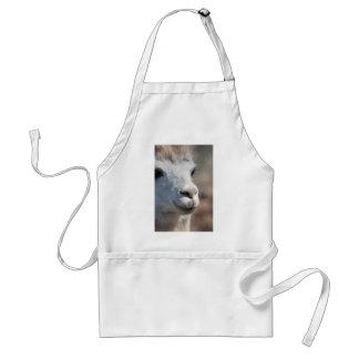 Nariz suave de la alpaca delantales