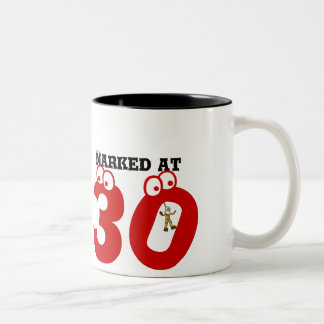 Narked at 30 Two-Tone coffee mug