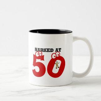 Narked at 50 Two-Tone coffee mug