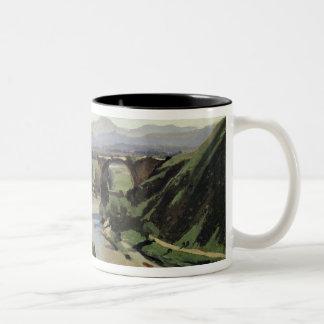 Narni, The Bridge of Augustus over the Nera Two-Tone Coffee Mug