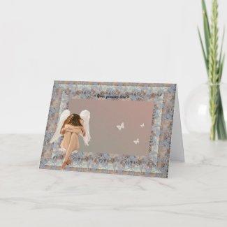 Narnia Angel frame. card