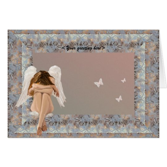 Narnia Angel frame. Card